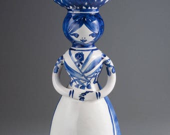 LARS SYBERG Pottery - A lady in blue as a Bell
