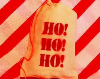 """Bag of Coal """"Ho! Ho! Ho!"""" with Lumps of Coal"""