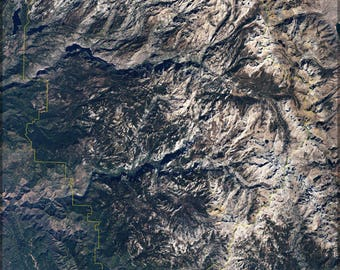 Poster, Many Sizes Available; Yosemite National Park From Space