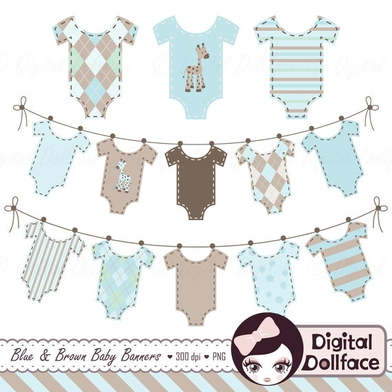Items Similar To Baby Clothes Banner Clipart Baby Boy