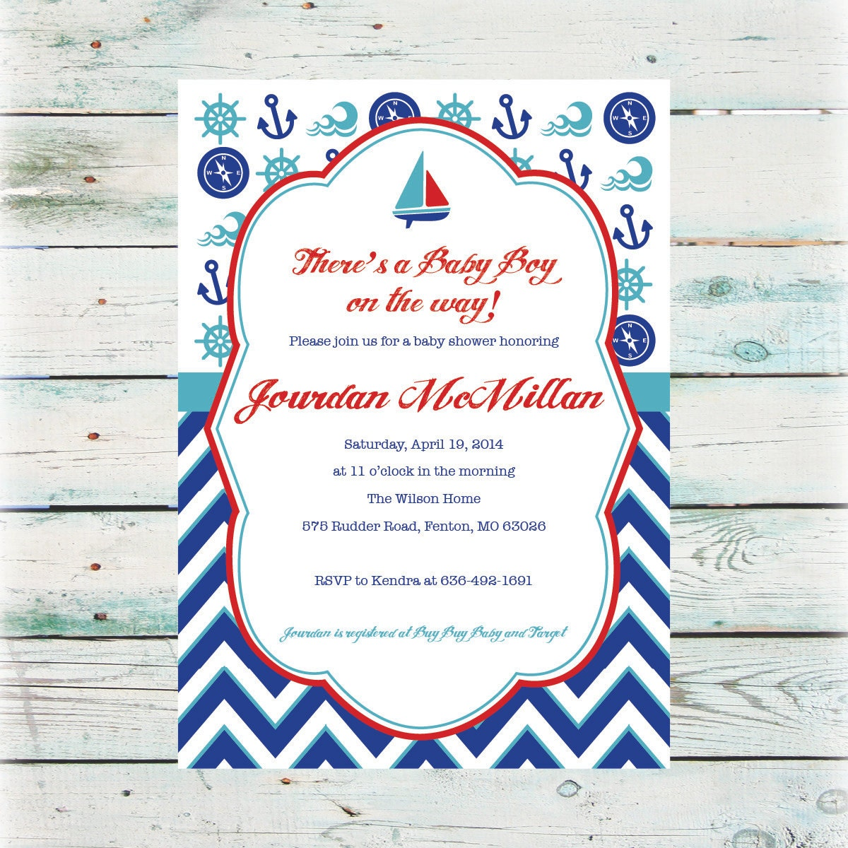 blue diy gold shower baby s it navy pin personalized invitations invite ahoy invitation nautical a boy