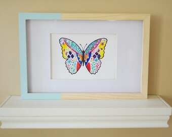 Vivacious Lil' Butterfly - original watercolor painting