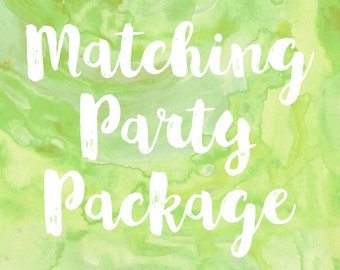 Matching Party Package, Printable Party Decorations, Birthday Party Decorations