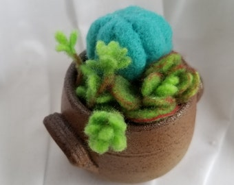 Felted Cactus Pot