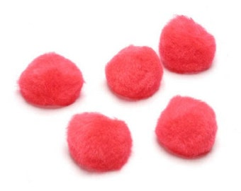 1/2 inch RED Pom Poms 100 pcs Fall, Christmas, or other holiday decorations