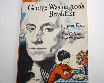 Vintage Children's Book, George Washington's Breakfast