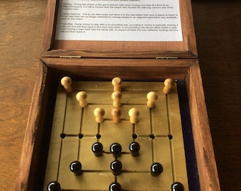 Nine Mens Morris, peg game