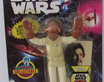 1994 JusToys Star Wars Admiral Ackbar Bend Ems Action Figure New In Package