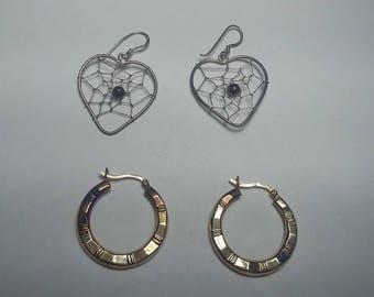 2 Pairs of Sterling Silver Earings