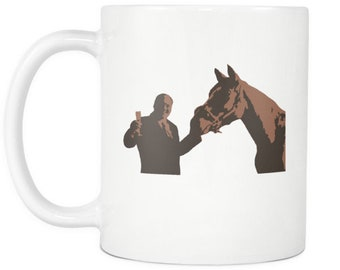 The Sopranos Coffee Mug - Tony Soprano With Pie O My Horse Painting