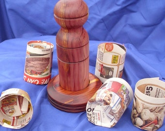 Paper Pot Maker/  Newspaper Pot Maker/ Spring Garden/ Gardening Gift/ Garden Tool/  Seed Starting/ Small Pot/ Plant Pot