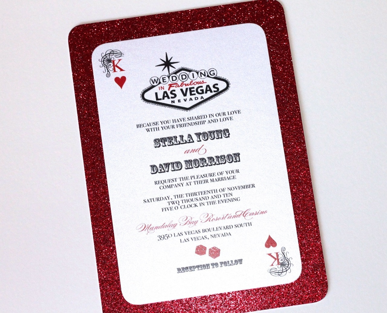 Fine Las Vegas Wedding Invitations Gift - Resume Ideas ...