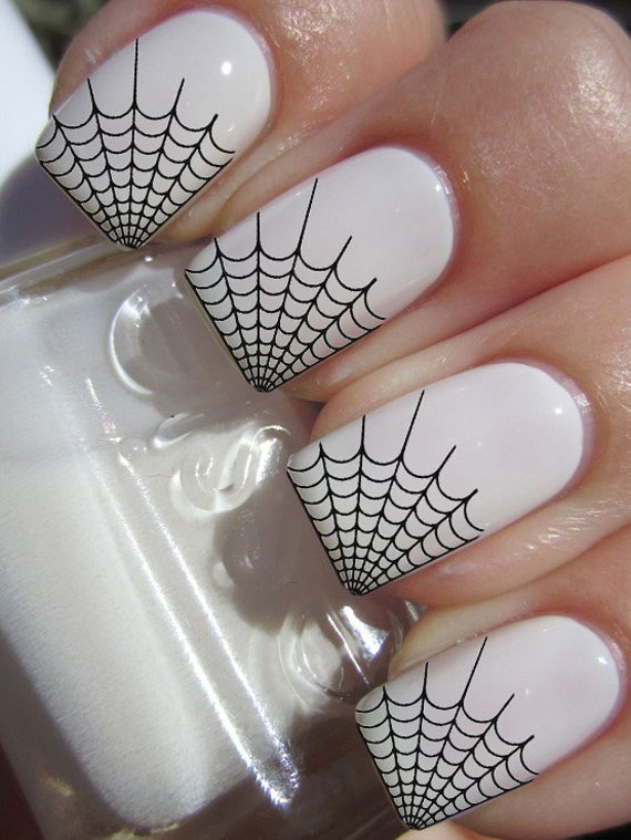 29 Black SPIDER WEB Tips Nail Art WTB Professional Results
