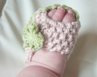 Baby Knit Sandals - Knitting Pattern - Baby Peeptoe Sandals Shoes - 3 Sizes Newborn - 12 Mths