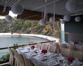 Tissue Paper Pom Poms- Weddings/Decorations/Receptions/Ceiling Decor/Parties Decor/Birthday's Decor