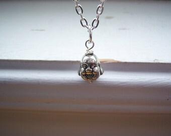 Buddha Necklace - Happy Buddha Necklace  -Smiling  Necklace -Religious  Necklace  - Good Luck Necklace -Red Buddha - Free Gift With Purchase