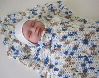 Crochet Baby Blanket, Baby Boy Cammo, Baby Girl Cammo, Baby Shower Gift, Baby Afghan, Baby Cammo Blanket