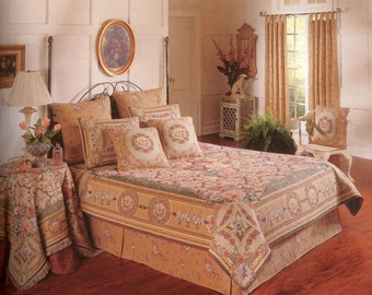 tapestry bedspread chambord - tapestry coverlet - queen size besdpread - french decor bedspread