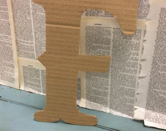Forever in Recycled Cardboard Letters