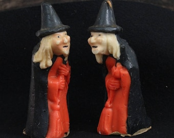 Vintage Gurley Witch Candles from the 60's, Vintage Halloween Candles