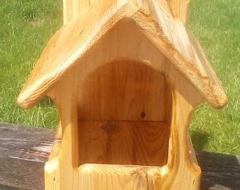 Cute square decorative, Dove or Robin cedar wood nesting shelf, TBNUP #2