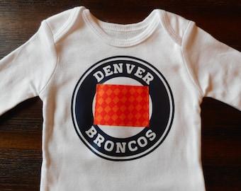 Denver onesie, Broncos Onesie,  Denver broncos onesie, broncos nursery, Denver baby, broncos baby, colorado onesie, colorado baby, football