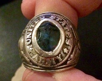 United States Army Vintage Jostens  Sterling Silver Ring Size 7