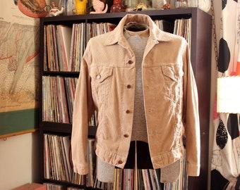 vintage tan corduroy jacket by Jeans West . mens unisex APPROX medium