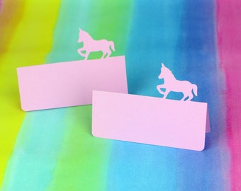 Unicorn Silhouette Tent Place Cards Set of 24