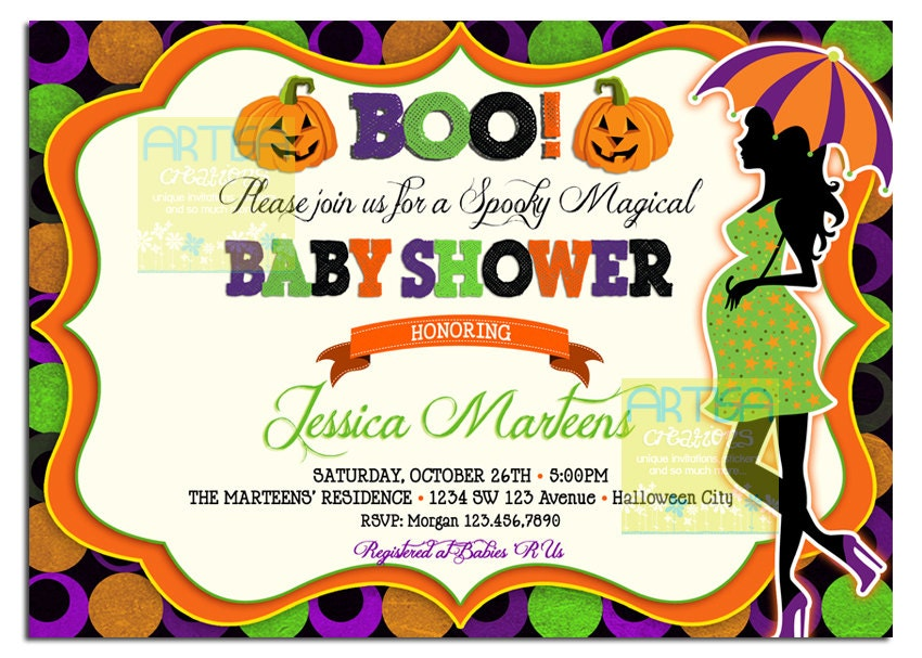 Halloween baby shower invitations images coloring pages adult halloween baby shower invitations filmwisefo