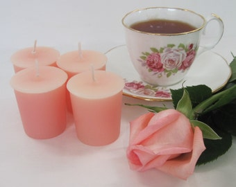 ROSE (4 votives or 4-oz soy jar candle)