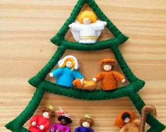 Nativity scene tree - DIY felt kit