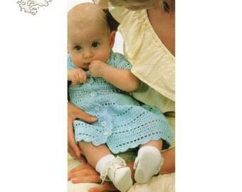 Crochet Patterns | Baby  Dress Crochet  | Button Down Dress Pattern | Baby Dress Pattern | Vintage Pattern
