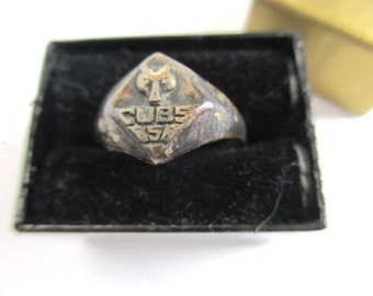 Vintage Sterling Cub Scout Ring Small antique boy scout ring vintage cub scout ring