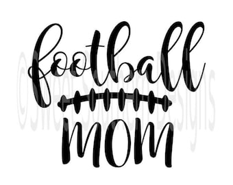 Football mom laces fall SVG PDF DXF instant download design for cricut or silhouette