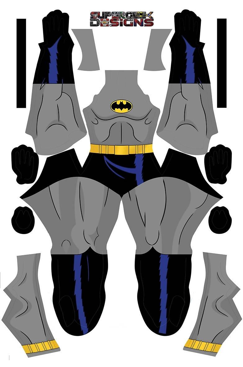 ANIMIERTE BATMAN-Kostüm Männer Cosplay jungen comic Con