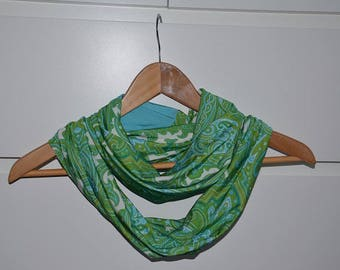 Green Fancy viscose Ring scarf