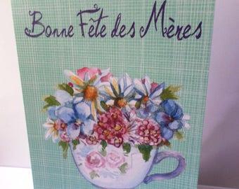 Happy Mother's Day - card handmade 21cm x 15cm