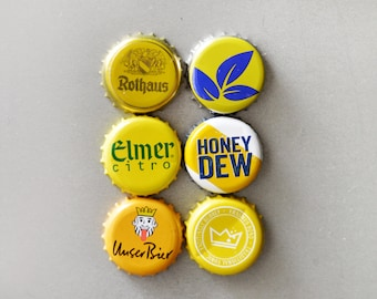 Yellow Caps Magnets