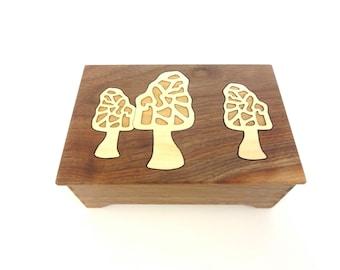 Morel Mushroom Keepsake Box - Sustainable Harvest