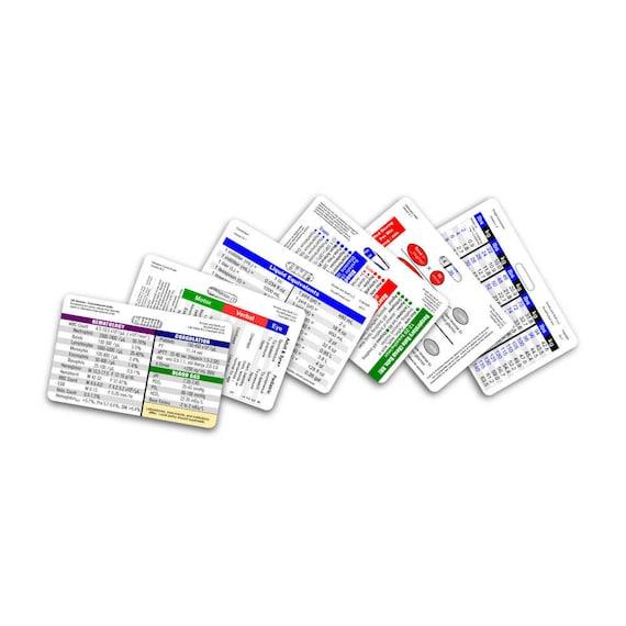 Mini Nurse RN Horizontal Badge Card Set 6 Cards for ID