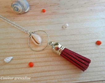 Necklace tassel and shell, birthday gift, mothers day
