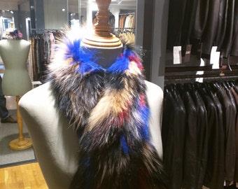 Colorful scarf of Renard fantasy | Fur Solsona
