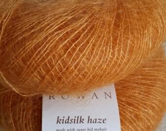 Rowan Kidsilk Haze 11,75 + 1.25ea à expédier - Orange musc 673 Lot 3475 - Super Kid Mohair et soie - 229yds + 4 modèles. Ciel pur! PRIX DE VENTE CONSEILLÉ 15,00