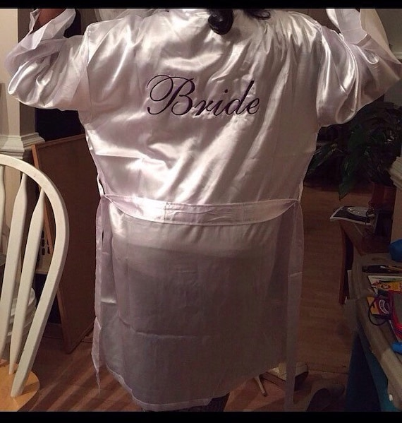 Mrs Robe 11 Robe Brides Embroidered personal or Satin Set of ~ your Personalized Bridal 11 party Satin nzXvanW