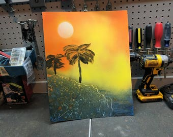 SprayPaintArt | Tropical Palm Trees