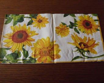 towel paper 33 x 33 beautiful tournesosl