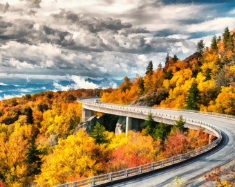 Linn Cove Viaduct - Blue Ridge Parkway - Asheville, NC