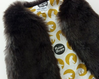 "vest 9-12 months ""bear"" fur baby"