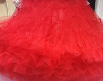 Petticoat 3 layer soft tulle choice of colour red Ivory